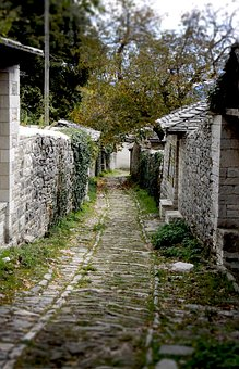 Traditional Village, Greece, Path, Traditional, Greek