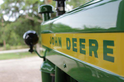 John Deere, Tractor, Green, Yellow, Farm