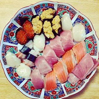 Sushi, Handmade, Delicious, Large, Dish, Family