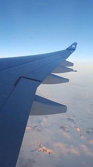 Airplane, Views, Mountains, Sky, Aircraft, Plane