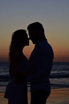 Love, Pair, Gran Canaria, Beach, Sunset, Couple
