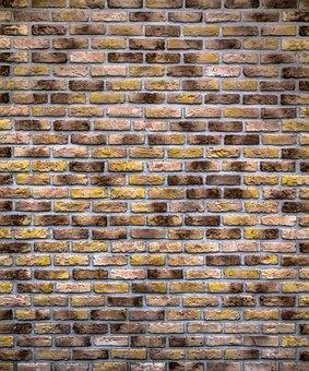 Brick, Wall, Rectangle, Square, Interior, Construction