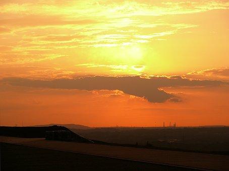 Sunset, Sky, Dump Hoheward, Ruhr Area, Abendstimmung