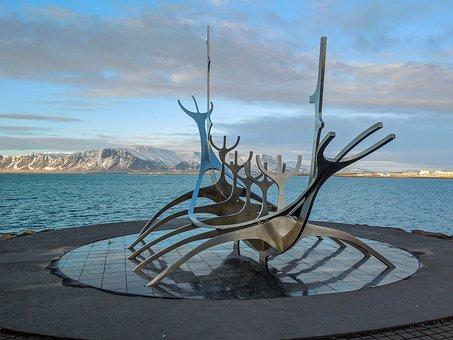 Iceland, Sun Voyager, Reykjavik, Monument, Sculpture