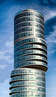 Skyscraper, Architecture, Eccentric Tower, Bochum