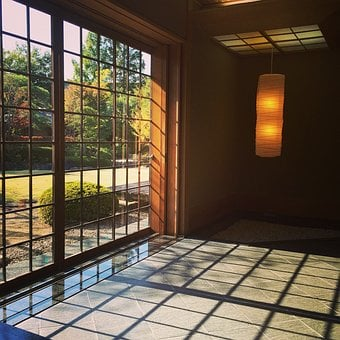 Japan, Home, Front Door, Sunshine, Asia, Wooden