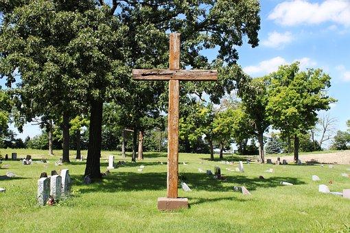 Cross, Wooden, Cemetery, Graveyard, Monument, Crucifix