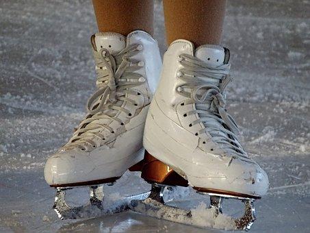 Skates, Figure Skating, Artificial Ice, Ice Rink, Skid