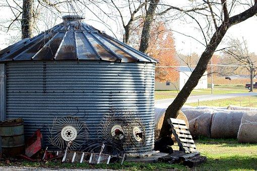 Autumn, Country, Fall, Farm, Farm Equipment, Kansas