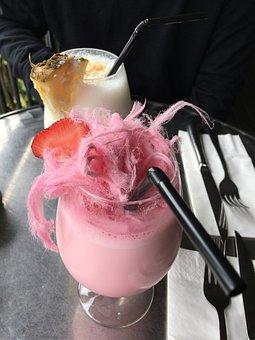 Dessert, Fairy Floss, Cotton Candy, Shake, Café