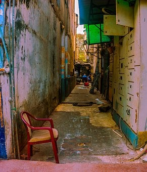 Chair, Color Pallet, Empty Street, Fresh, Lane