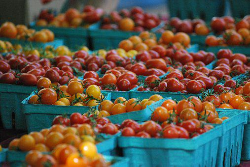 Cherry Tomatoes, Farmer Market, Market, Cherry, Fresh