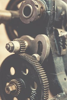 Chrome, Clockwork, Construction Machinery, Engine