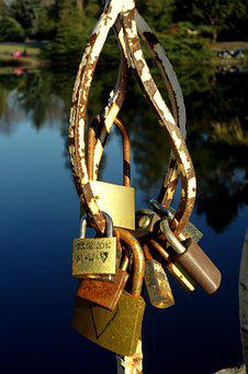 Padlocks, Love, Park, Fall In Love With, Bridge Lovers