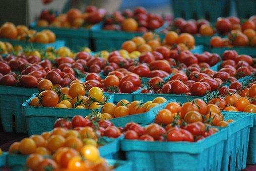Cherry Tomatoes, Farmer Market, Market, Cherry, Fresh