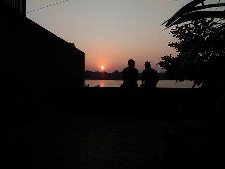 Evening Sky, Evening Sun, Friends, Friendship