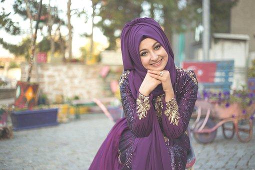 Beautiful, Bride, Dress, Fashion, Girl, Headscarf