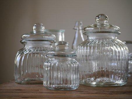 Glass Vessels, Storage Jars, Empty Glasses, Bonbonniere