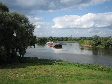 Kolomna, The Moscow River, Summer