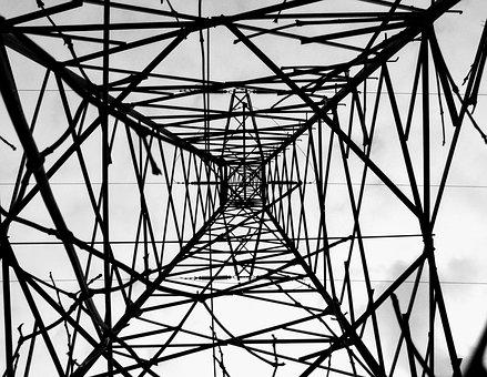 Steel, Więża, Current, Energy, Lines, Metal, Power Line