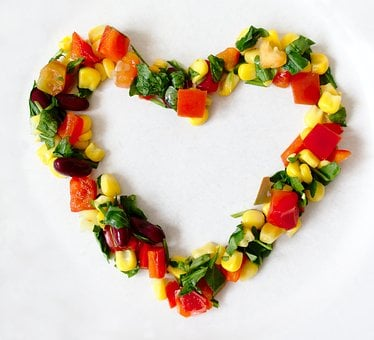 Vegetables, Heart, Love, Bless You, Vegan, Vegetarian