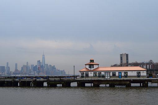 Dock, Manhattan, Hoboken, Water, Pier, New, City, York
