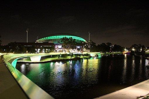 Bridge, Night Sky, Oval