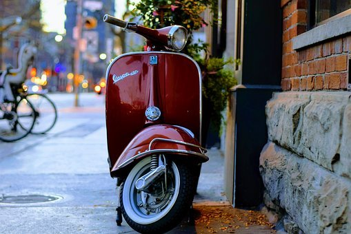 Blur, City, Classic, Outdoors, Pavement, Plant, Red