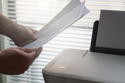 Printer, Paperwork, Print, Printing, Man, Job, Working