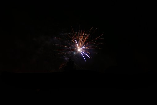 Fireworks, Night, New Year's Eve, Pyrotechnics, Rocket