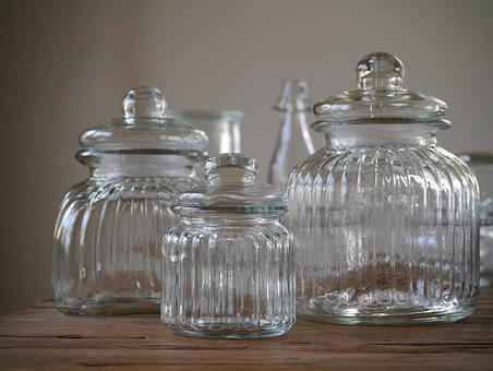 Glass Vessels, Storage Jars, Empty Glasses, Bonbonniere