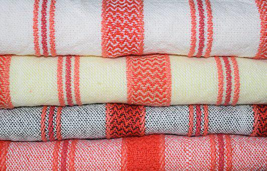 Weaving, Hand-woven, Towels, Stripes, Fabric, Cloth