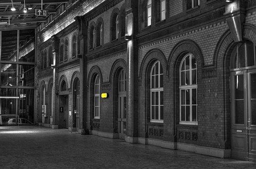 Railway Station, Kassel, Colourkey, Travel, Traffic