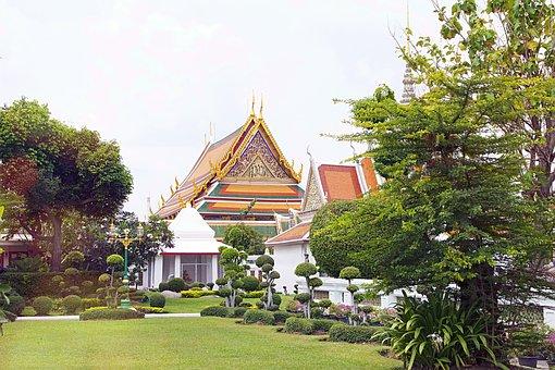 Thailand, Wat Arun, Temple, Bangkok, Asia, Gold