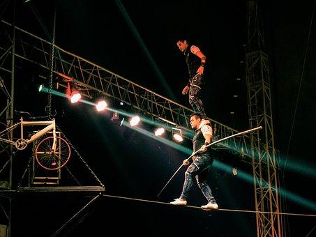 Rope Walkers, Acrobats, Rope, Danger, Risk, Balance