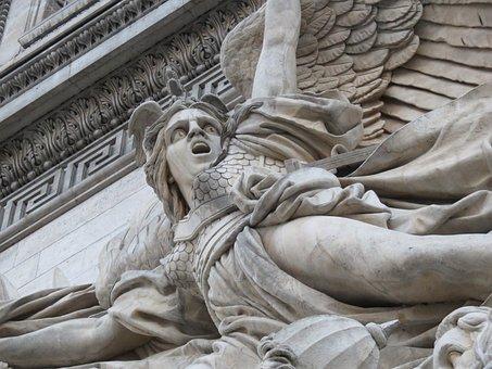 Angel, Arc De Triomphe, Arc, Arch, France, Paris