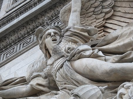 Angel, Arc De Triomphe, Arc, Arch, France, Paris