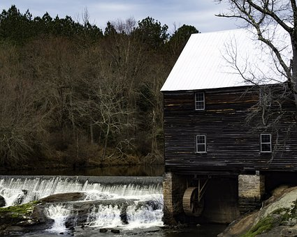 Mills, Architecture, Old, Landmark, Rural, Landscape