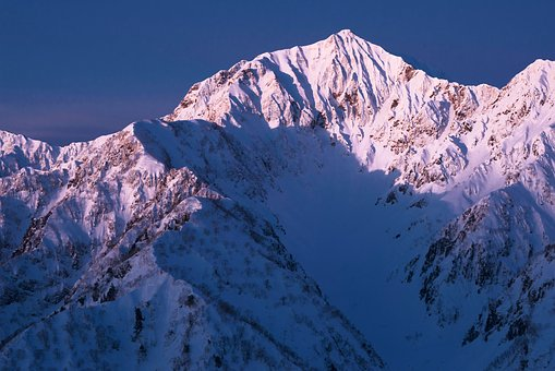 Snow Mountain, Asahi, Kashima Yarigatake, Northern Alps