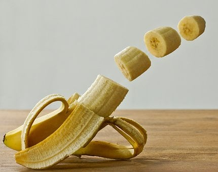 Banana, Fruit, Manipulation, Studio, Yellow, Healthy