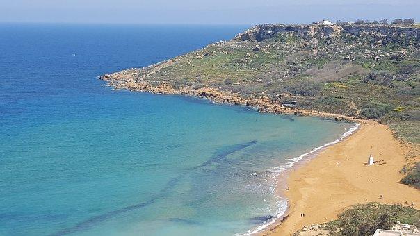 Malta, Sea, Nature, Water, Beach, Landscape, Coast