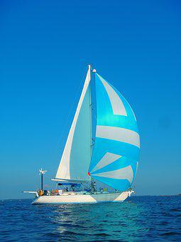 Sailing, Spinnaker, Cruising, Bluewater, Sailboat, Boat