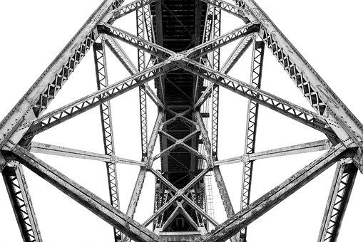 Bridge, Trussel, Steel, Transportation, Beam, Girder