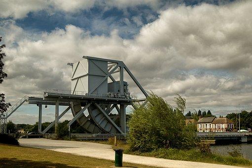 Pegasus Bridge, Normandy, France, D-day, War, Bridge