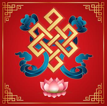 Vector, Auspicious Symbol, Mongolia, Buddhism