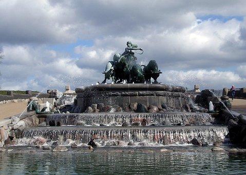 The Gefion Fountain, Copenhagen, The Citadel, Stone
