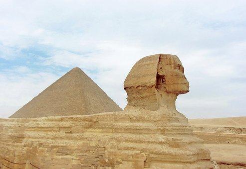 Pyramid, Egypt, Egyptian, Sphinx, Pyramids, Stone