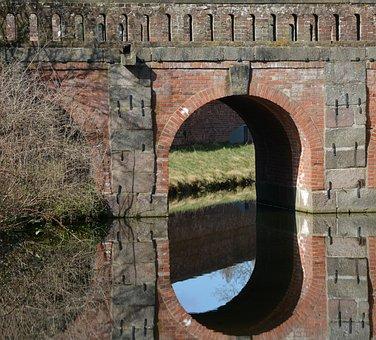 Architecture, Eutin, Closed Bridge, Mirroring