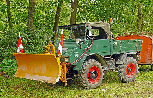 Unimog, Snowplow, Oldtimer, Historically