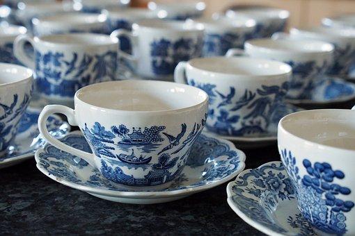 Tea, Cups, Teacup, Drink, Hot, Beverage, White, Coffee